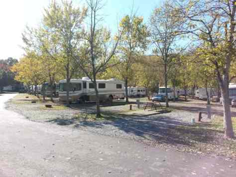 Claboughs Campground in Pigeon Forge Tennessee pull thru