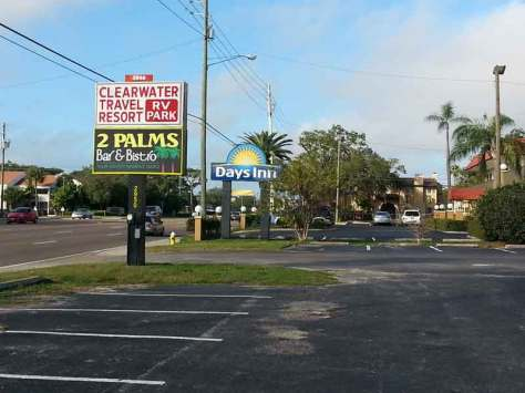 Clearwater Travel Resort in Clearwater Florida Sign