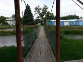 Connor Battlefield Historic Site in Ranchester Wyoming Walking Bridge to Town