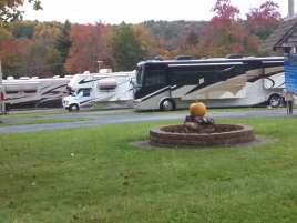 Cool Breeze Campground in Galax Virginia Fire Pit