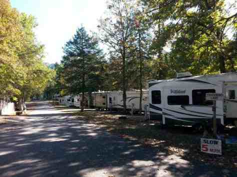 Cooper Creek Campground in Branson Missouri Roadway