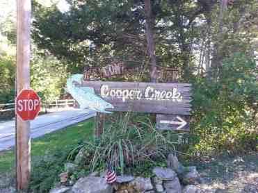 Cooper Creek Campground in Branson Missouri Sign