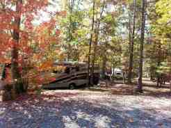 Cove Mountain Resorts RV Park in Sevierville Tennessee Treed Sites