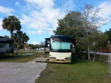 Daytona Speedway KOA in Daytona Beach Florida Backin