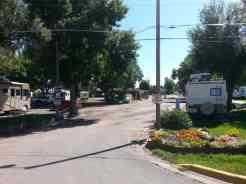 Dicks RV Park Great Falls Montana Entrance Road