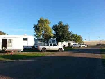 Dicks RV Park Great Falls Montana Roadway by Short Term Site
