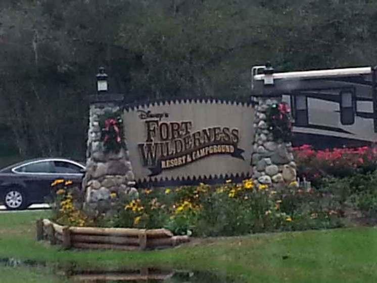 The Campsites at Disney's Fort Wilderness Resort in Lake Buena Vista Florida Sign