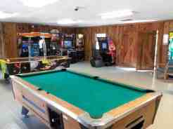 Eagle's Nest Campground in Pigeon Forge Tennessee Gameroom