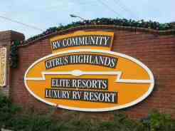 Elite Resorts at Citrus Valley in Clermont Florida Sign