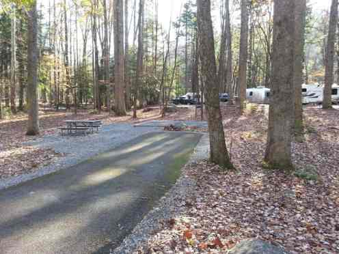 Elkmont Campground in the Great Smoky Mountains National Park near Gatlinburg Tennessee Backin
