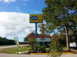 Encore Sunshine Holiday Daytona in Ormond Beach Florida Sign