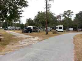 Golden Isles RV Park in Brunswick Georgia Roadway