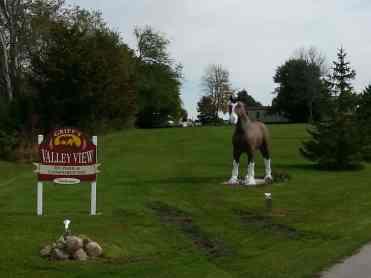 Griffs Valley View RV Park in Altoona Iowa Sign