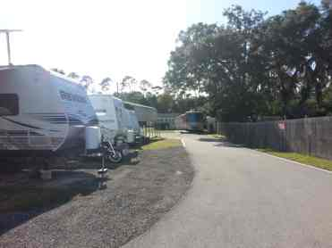 Harris Village RV Park in Ormond Beach Florida Roadway
