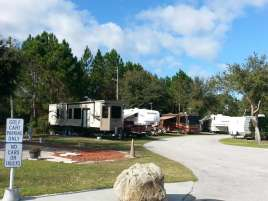 International RV Park and Campground in Daytona Beach Florida Road and Sites