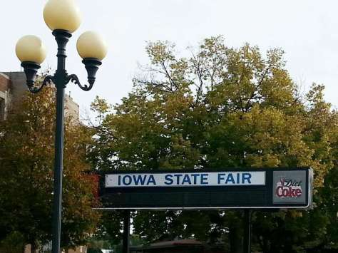 Iowa State Fairgrounds in Des Moines Iowa Sign