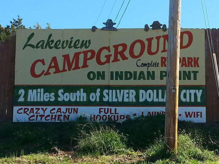 Lakeview Campground in Branson Missouri Sign