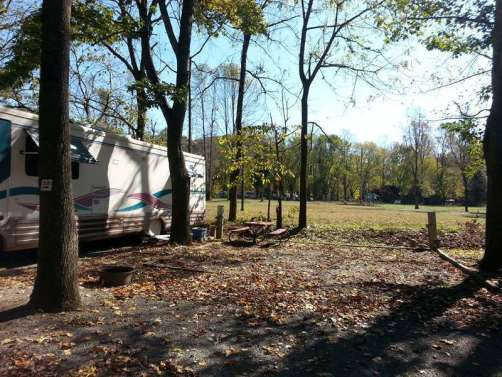 Lazy Daze Campground in Townsend Tennessee Backin
