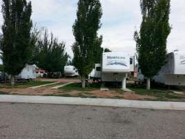 Lazy R Campground in Ranchester Wyoming Pull thrus