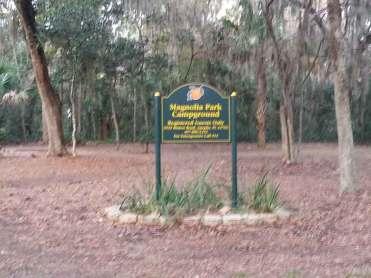 Magnolia Park Campground in Apopka Florida Sign