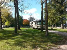 Margaret MacNider Campground in Mason City Iowa RV Site