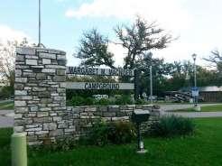 Margaret MacNider Campground in Mason City Iowa Sign