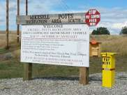 Mikesell-Potts Recreation Area Sign