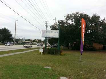 Mill Creek RV Resort in Kissimmee Florida Sign