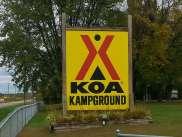 Minneapolis Northwest KOA in Maple Grove Minnesota Sign