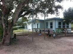 North Beach Camp Resort in Saint Augustine Florida restroom and Swings