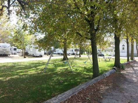 Oakwood RV Park in Clear Lake Iowa Playground
