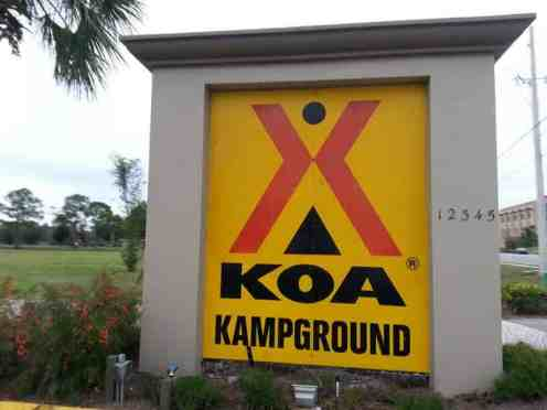 Orlando SE Lake Whippoorwill KOA in Orlando Florida Sign