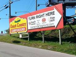 Ozark Country Campground in Branson Missouri Sign