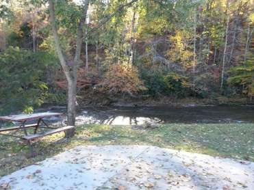 Riverbend Campground in Pigeon Forge Tennessee Backin by River