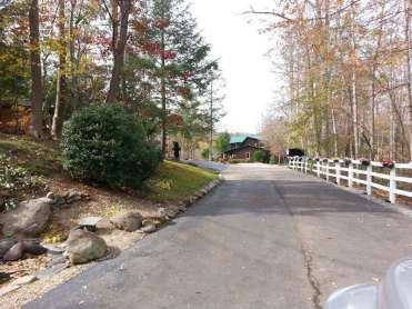 Smoky Bear Campground in Cosby Tennessee Roadway