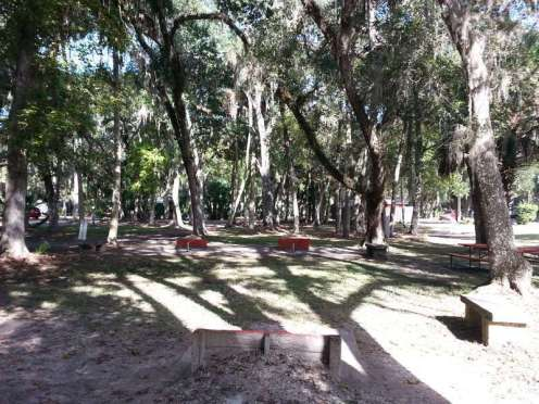 Sugar Mill Ruins Travel Park in New Smyrna Beach Florida Game Area