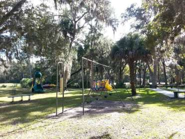 Sugar Mill Ruins Travel Park in New Smyrna Beach Florida Playground