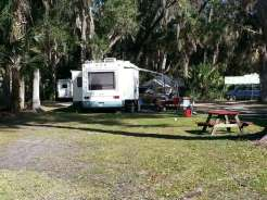 Sugar Mill Ruins Travel Park in New Smyrna Beach Florida Pull thru