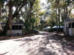 Sugar Mill Ruins Travel Park in New Smyrna Beach Florida Roadway