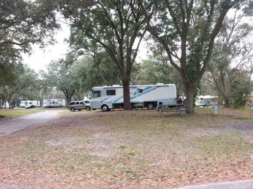 Tampa East RV Park in Dover Florida Backin
