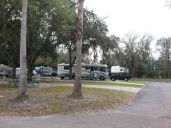 Tampa East RV Park in Dover Florida Concrete Site