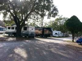 Tampa RV Park in Tampa Florida Roadway