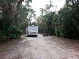 Tomoka State Park Campground in Ormond Beach Florida Pull Thru