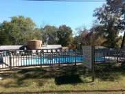 Trails End Resort & RV Park in Branson Missouri Pool and Sign