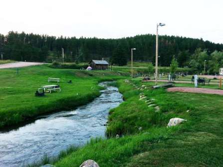 Trailside Park Resort in Hill City South Dakota Creek