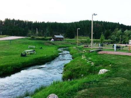 Trailside Park Resort in Hill City South Dakota Creek