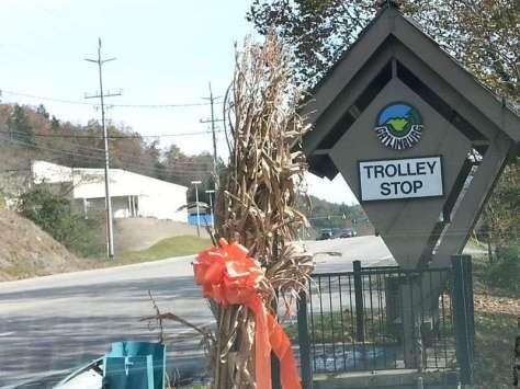 Twin Creek RV Resort in Gatlinburg Tennessee Trolley Stop