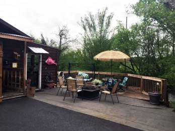 Waldens Creek Campground in Pigeon Forge Tennessee Firepit