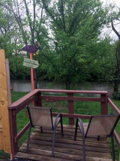 Waldens Creek Campground in Pigeon Forge Tennessee Deck over creek