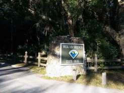 Wekiwa Springs State Park Campground in Apopka Florida Sign